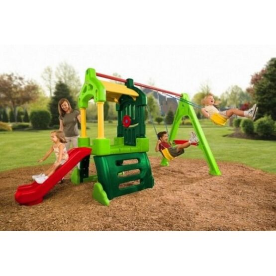 Little Tikes Clubhouse Swing Set – Natural