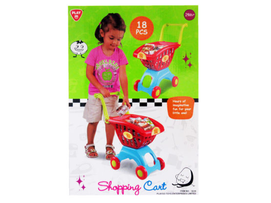 Play Go My Little Shopping Red Cart – 18 pcs