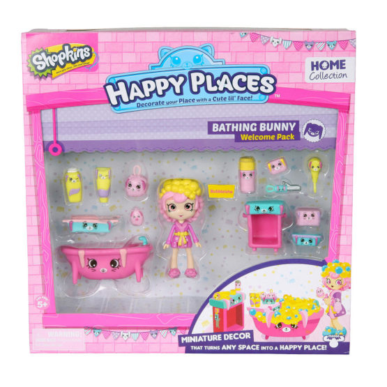 Shopkins Happy Places Miniature Decor Welcome Pack – Bathing Bunny