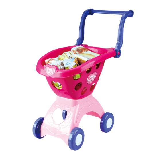 Play go Shopping Cart Pink 18 pcs