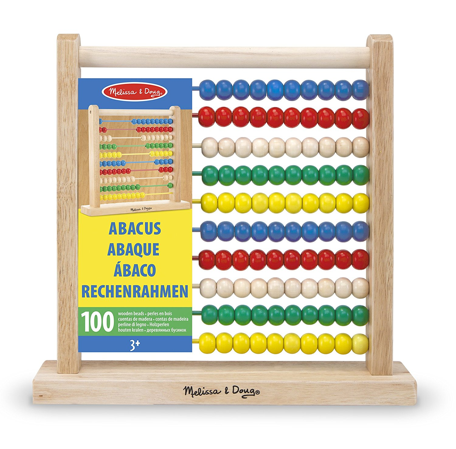 Abacus Classic Wooden Toy 100 beads