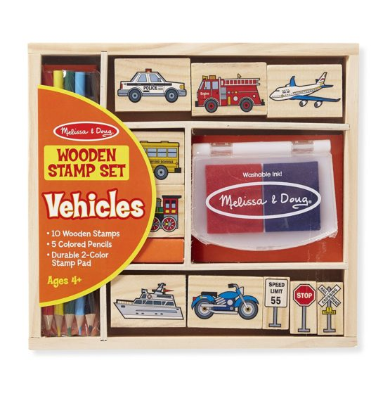 Wooden Stamp Set: Vehicles