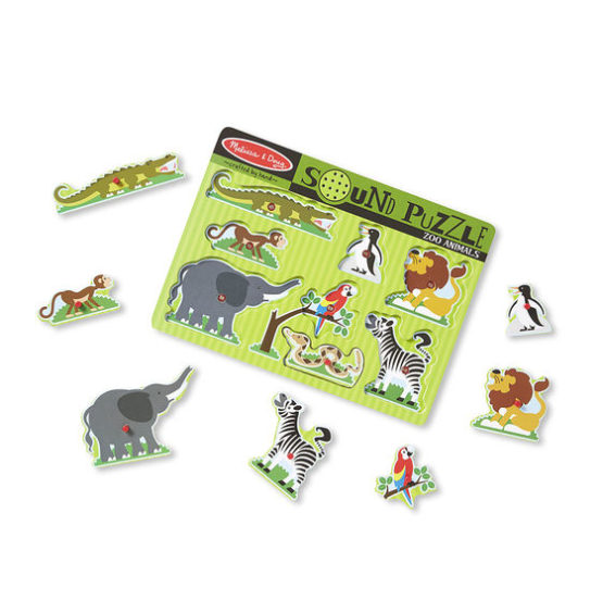 Zoo Animals Sound Puzzle – 8 Pieces