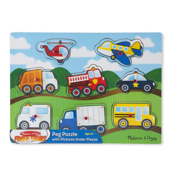 Vehicles Peg Puzzle – 8 Pieces