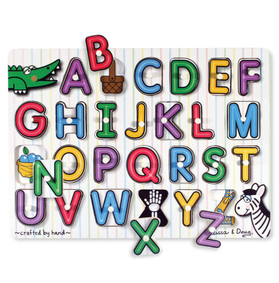 See-Inside Alphabet Peg Puzzle – 26 pieces