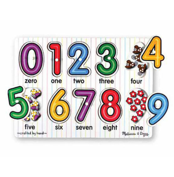 See-Inside Numbers Peg Puzzle – 10 pieces