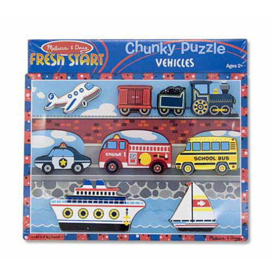 Vehicles Chunky Puzzle – 9 Pieces