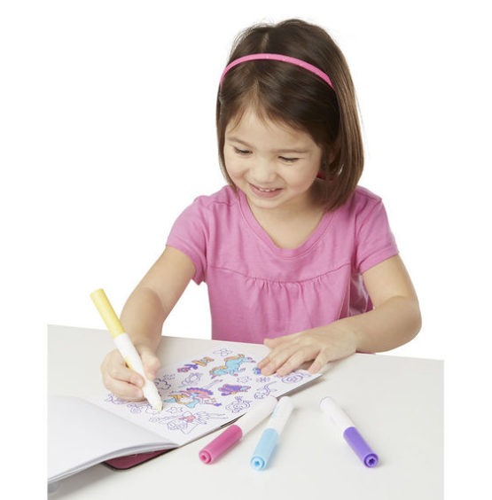 On the Go Magicolor Color-Your-Own Sticker Pad – Princesses, Animals & Fairies