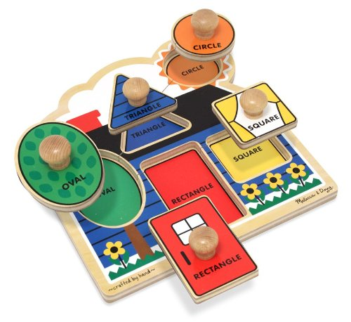 First Shapes Jumbo Knob Wooden Puzzle