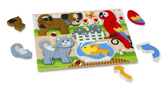 Pets Wooden Chunky Jigsaw Puzzle