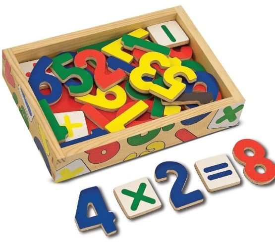 Wooden Numbers Magnets