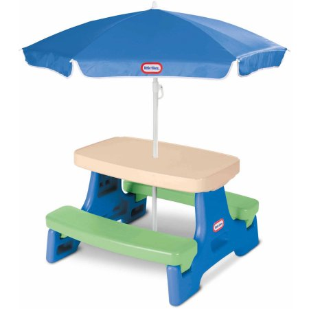 Easy Store Jr. Play Table with Umbrella – Blue / Green