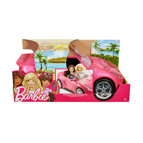 New Barbie Glam Convertible Car 2 Seats