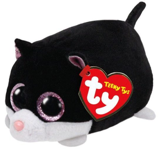 Teeny Tys Cat Cara Black White 10 cm