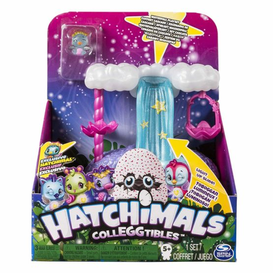 Hatchimals CollEGGtibles — Waterfall Playset with Lights, Sounds