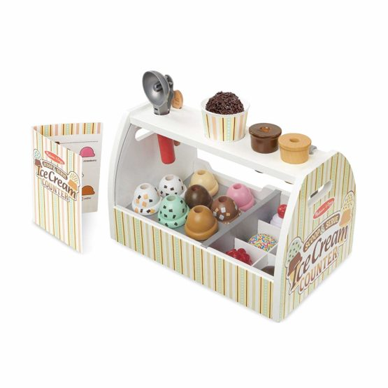 Melissa & Doug Wooden Scoop & Serve Ice Cream Counter