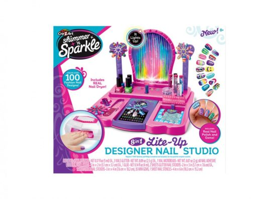 Cra-Z-Art Shimmer & Sparkle Crazy Lights 8 in 1 Nail Design Studio