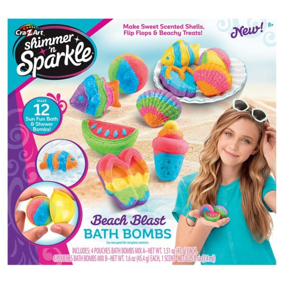 Cra-Z-Art Shimmer N Sparkle Make Your Own Bath Bomb Beach Blast