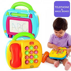 Play 2 in 1 Telephone and Magic Board