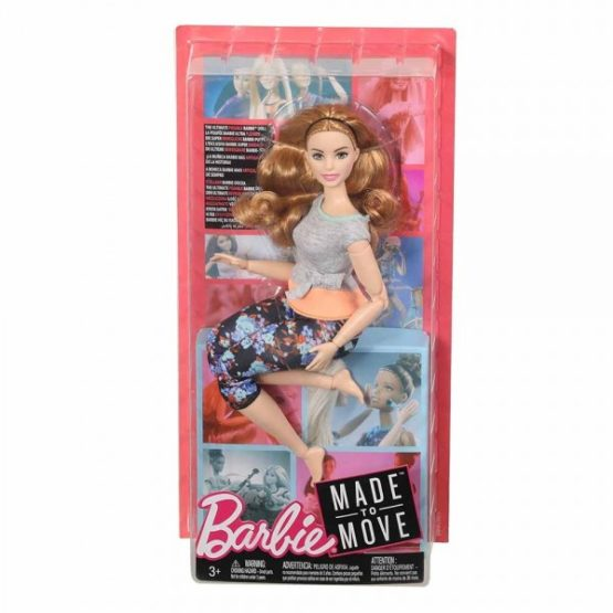 Barbie® Made to Move™ Doll – Curvy with Auburn Hair
