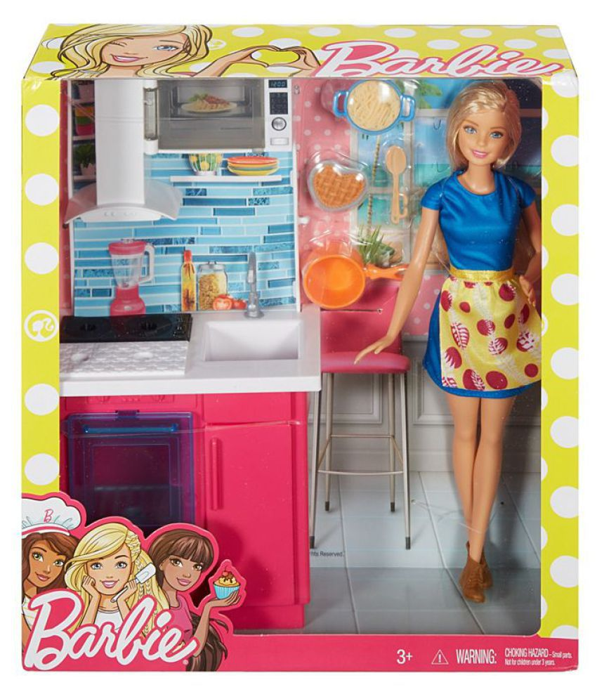 Barbie Furniture Kitchen and Doll Dress Up