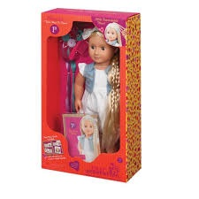 OG Hair Grow Doll With Striped Ribbon Blond Phoebe