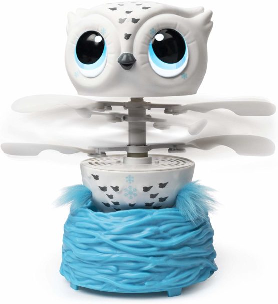 Owleez Flying Baby Owl Interactive Toy – White