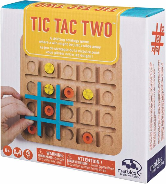 Tic Tac Two Game Wooden