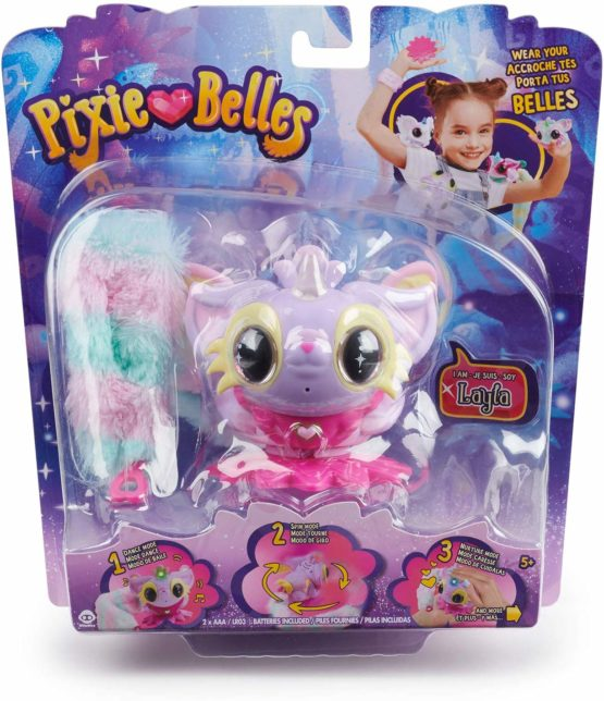 Pixie Belles – Interactive Enchanted Animal Toy, Layla (Purple)