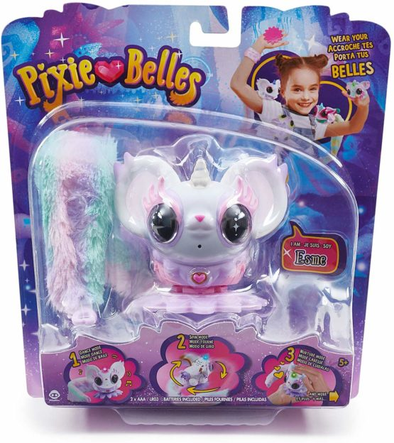 Pixie Belles – Interactive Enchanted Animal Toy – Esme (White)