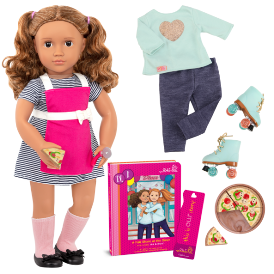 OG Deluxe Isa Diner Doll With Book