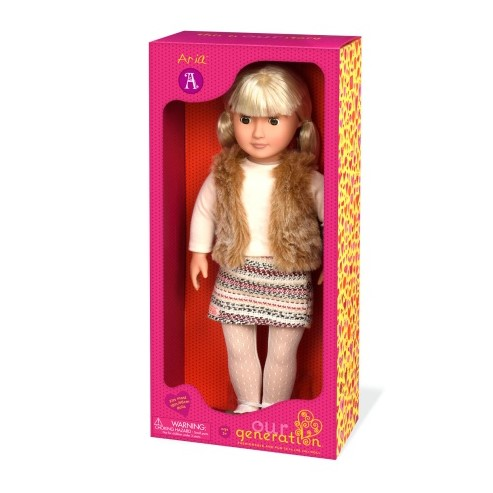 OG Doll With Hooded Furry Vest Aria