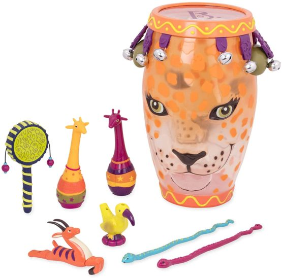 B Toys Jungle Jam Drum Set – Includes 9 Instruments