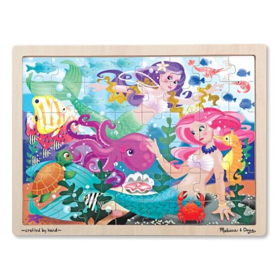 Mermaid Fantasea Wooden Jigsaw Puzzle – 48 pieces