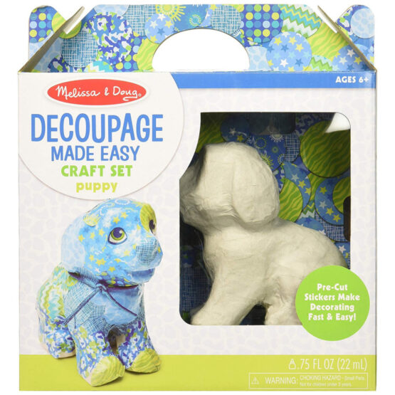 M&D Decoupage Made Easy Puppy Paper Craft Kit