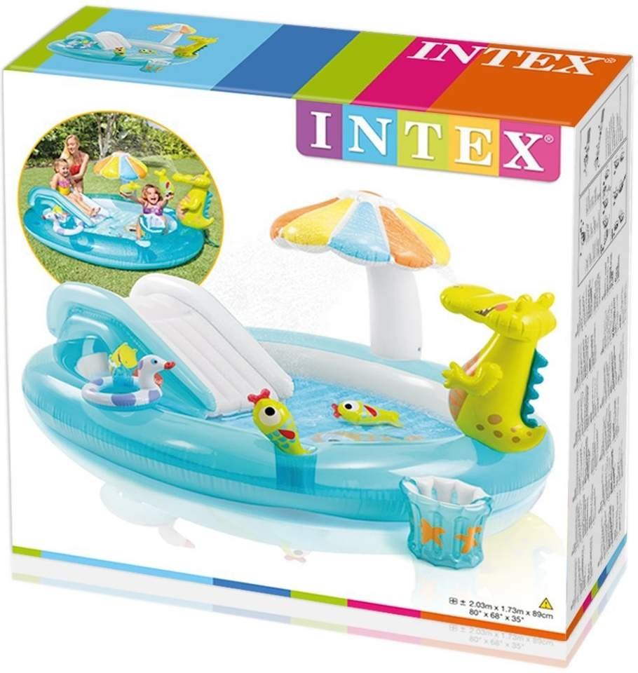 intex-57165-gator-play-center-inflatable-swimming-pool-children-game 2