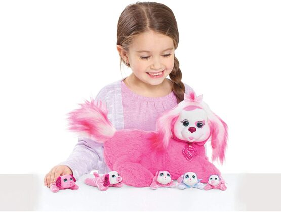 Puppy Surprise Kids Polly Pink Dog Plush Toy