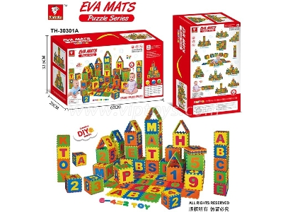 Eva English Letters and Digital Mat Puzzle 36 pcs