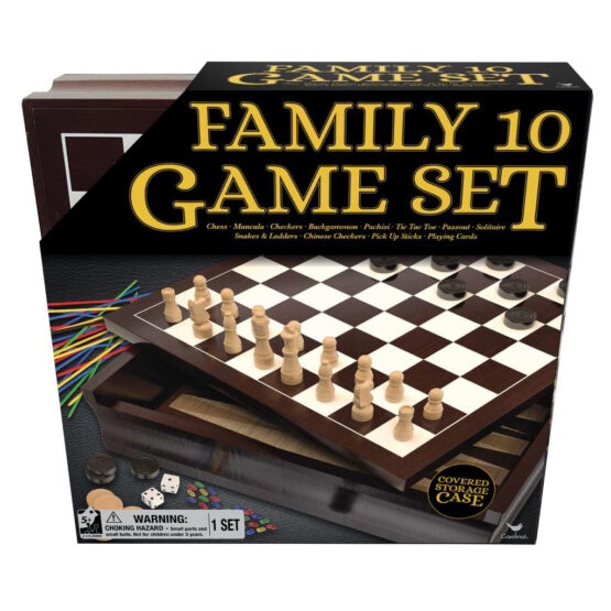 Classic Wood Family 10 Game Set