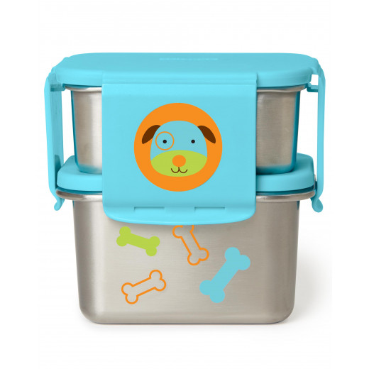 Skip Hop Zoo Stainless Steel Lunch Kit- Dog