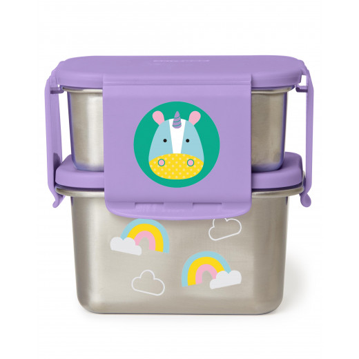 Skip Hop Zoo Stainless Steel Lunch Kit- Unicorn