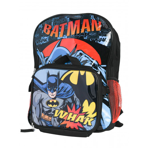 Batman Backpack with Shaped Lunch Bag   41 cm