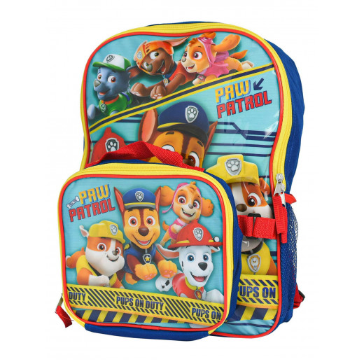Paw Patrol Backpack with Shaped Lunch Bag | 41 cm