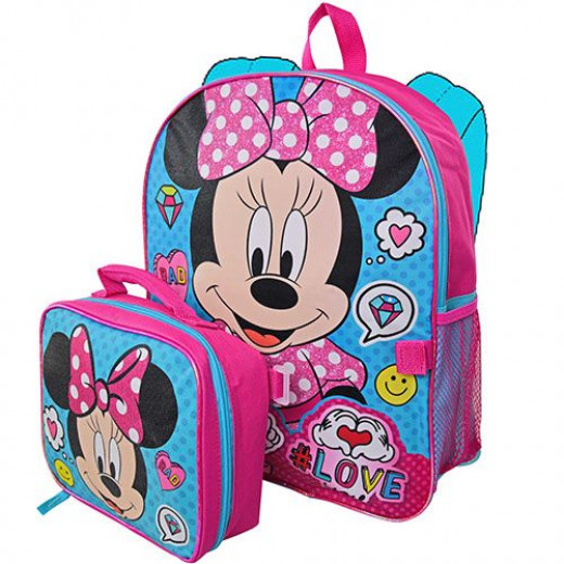 Minnie 41 cm Backpack with Lunch Bag