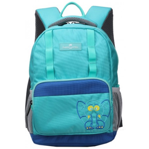Faber-Castell The Minies Bag one Compt Backpack, Light Blue & Blue Elephant