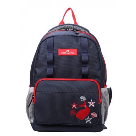 Faber-Castell The Minies Bag one Compt Backpack,Dark Blue & Red Whale