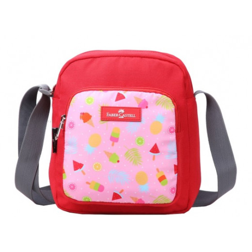 Faber Castell Insulated School Lunch Bag 4-Compartment, Red&Pink Ice Cream