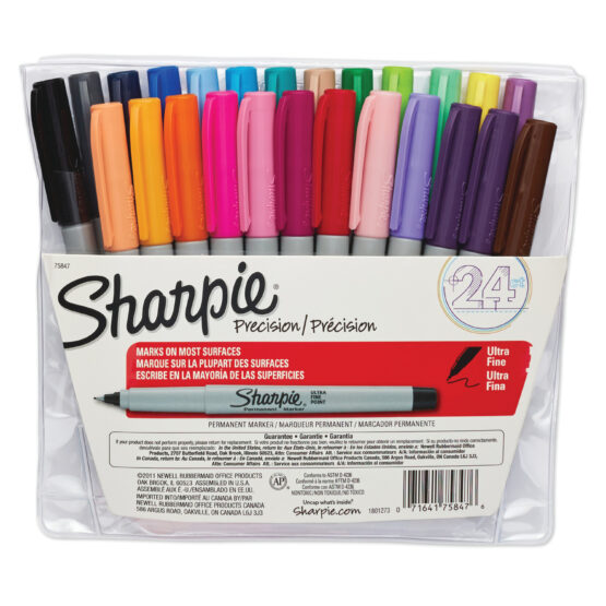 Sharpie Ultra Fine Point Marker Set of 24 with Pouch