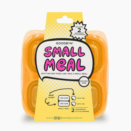 Goodbyn Small Meal & 2 Leak proof Little Dippers | Neon Orange