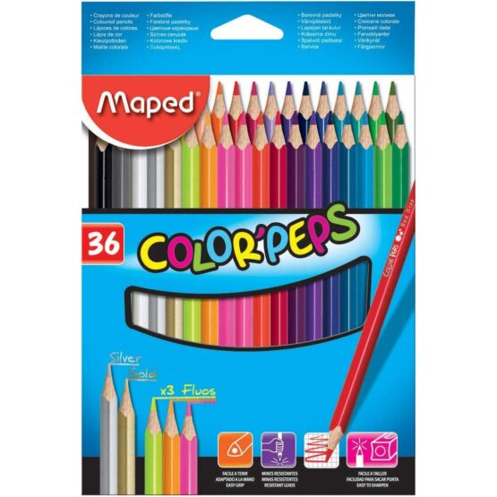 Maped Color'Peps Colored Pencils | Asst Colors | Pack of 36